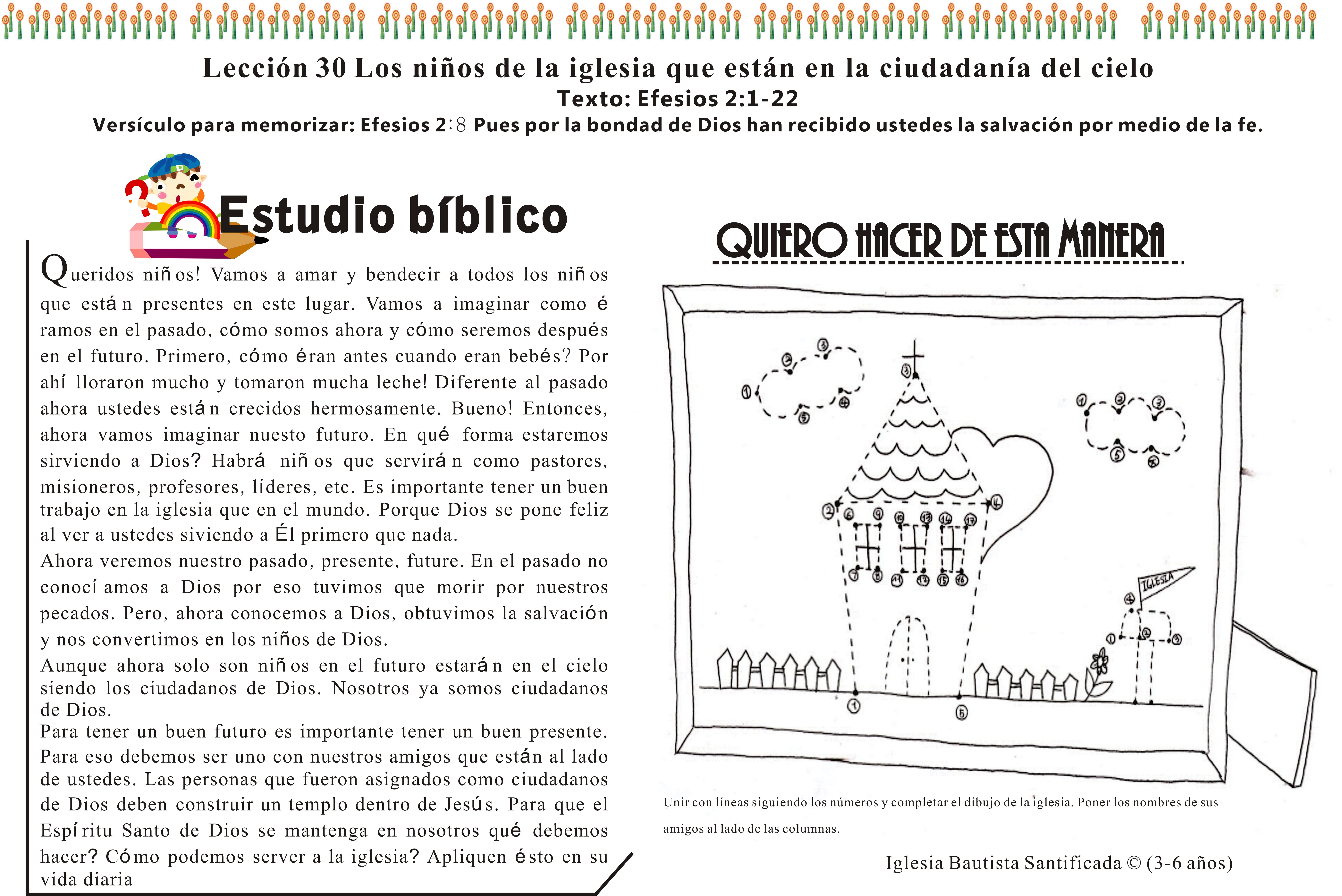 Lección 30 Los niños de la iglesia que están en la ciudadanía del ...