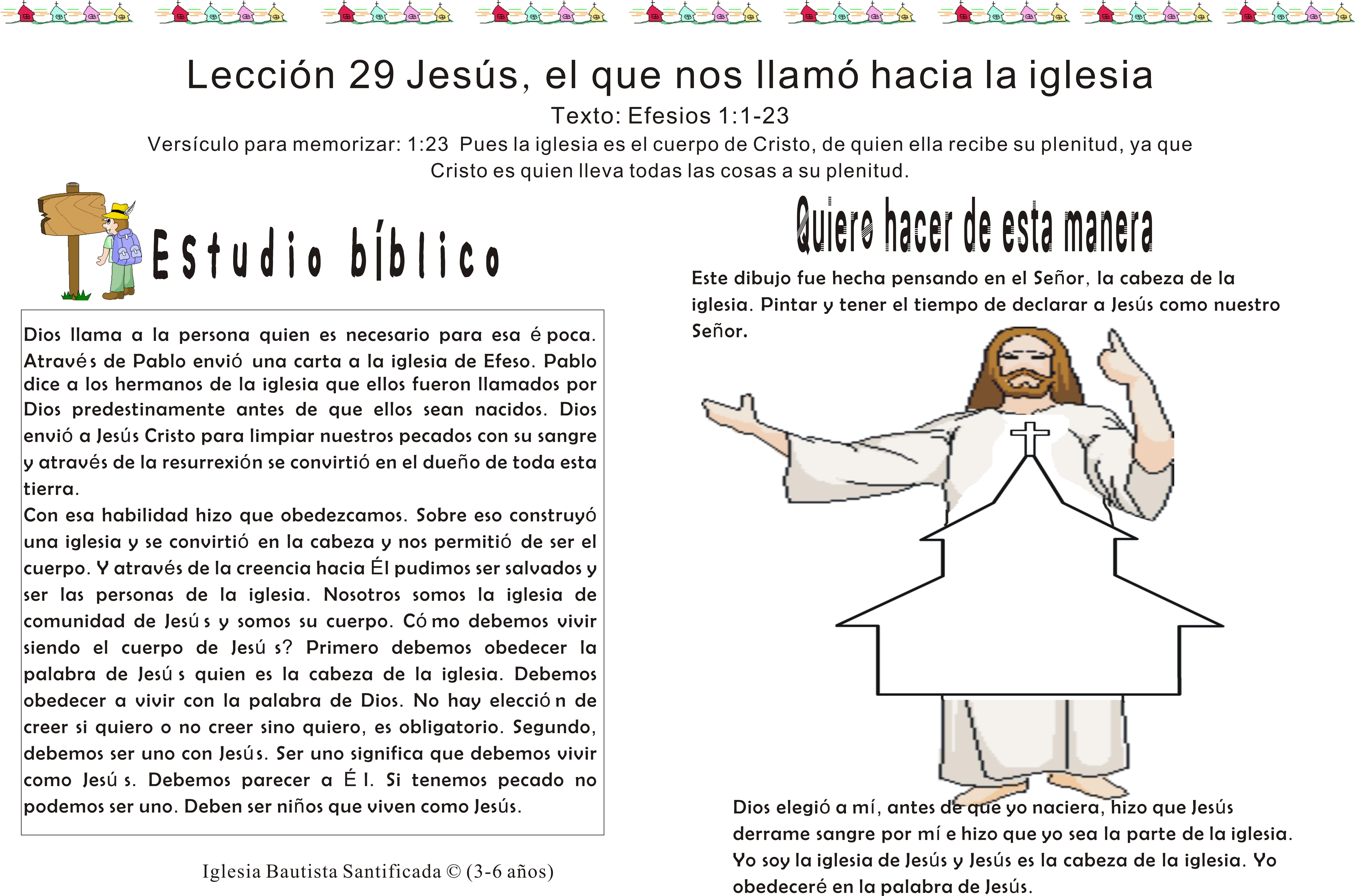 Lección 29 Jesús, el que nos llamó hacia la iglesia | Iglesia de Niños