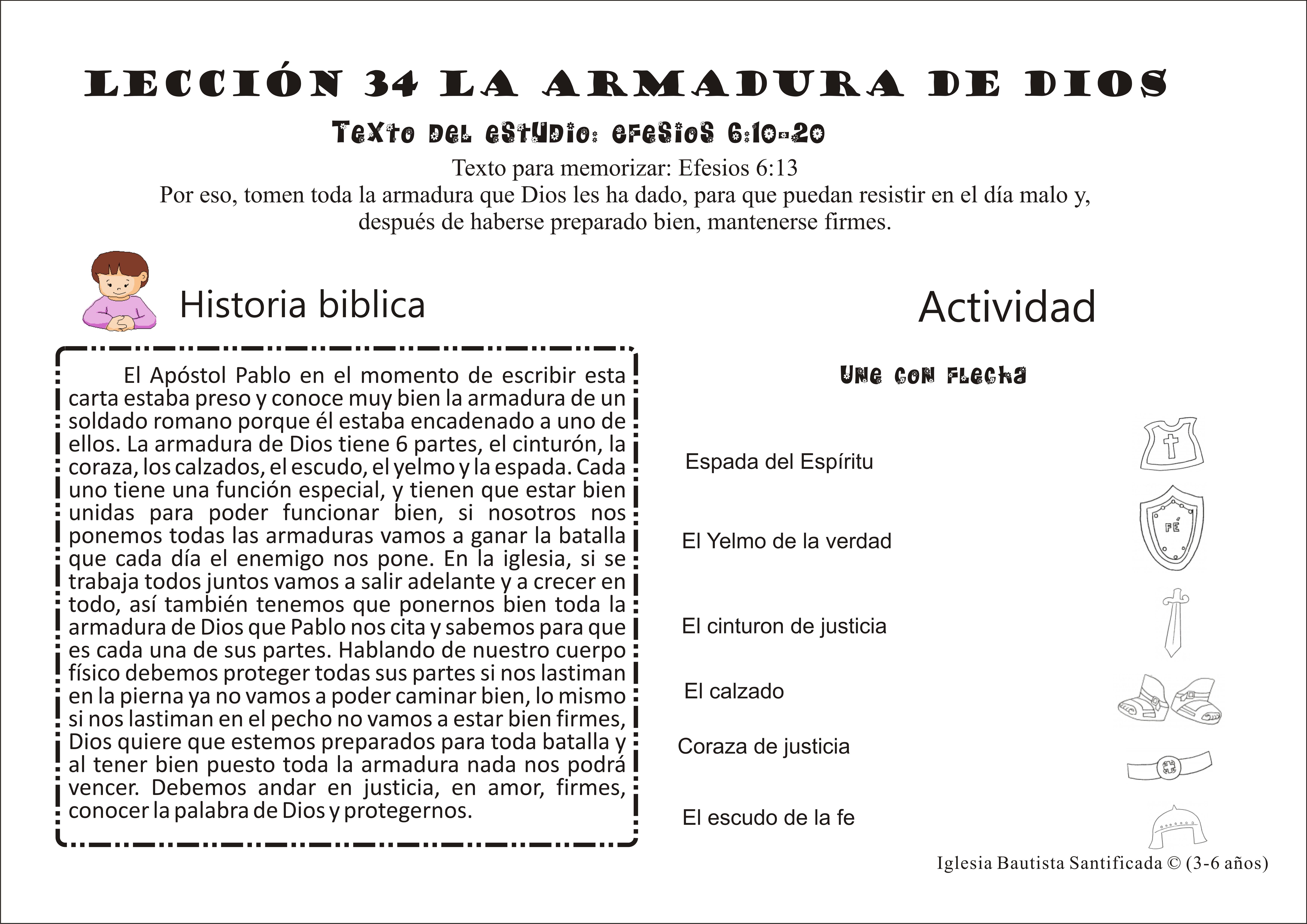 Lección 34 La armadura de Dios | Iglesia de Niños