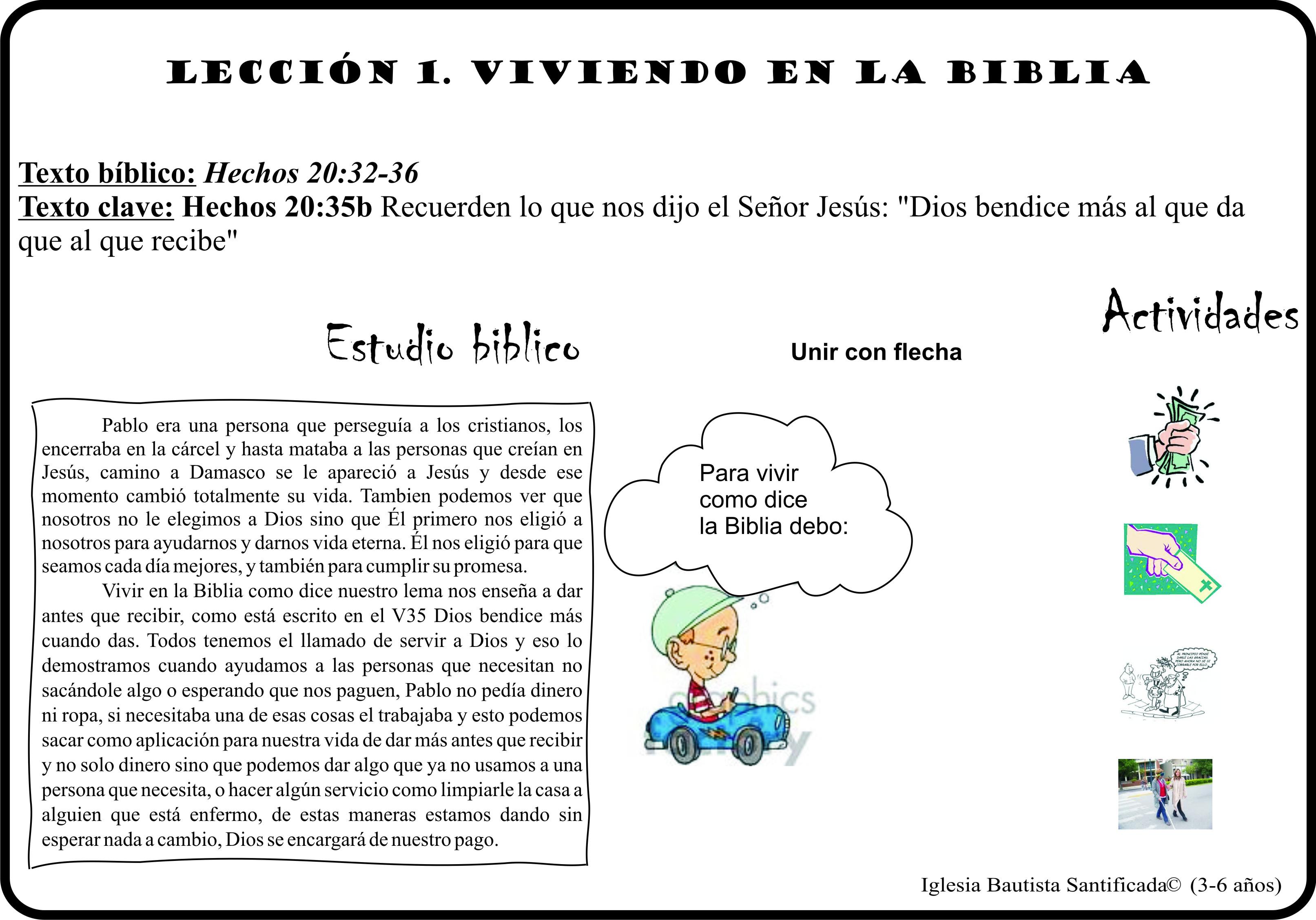 Lección 1. Vivimos en la Biblia | Iglesia de Niños