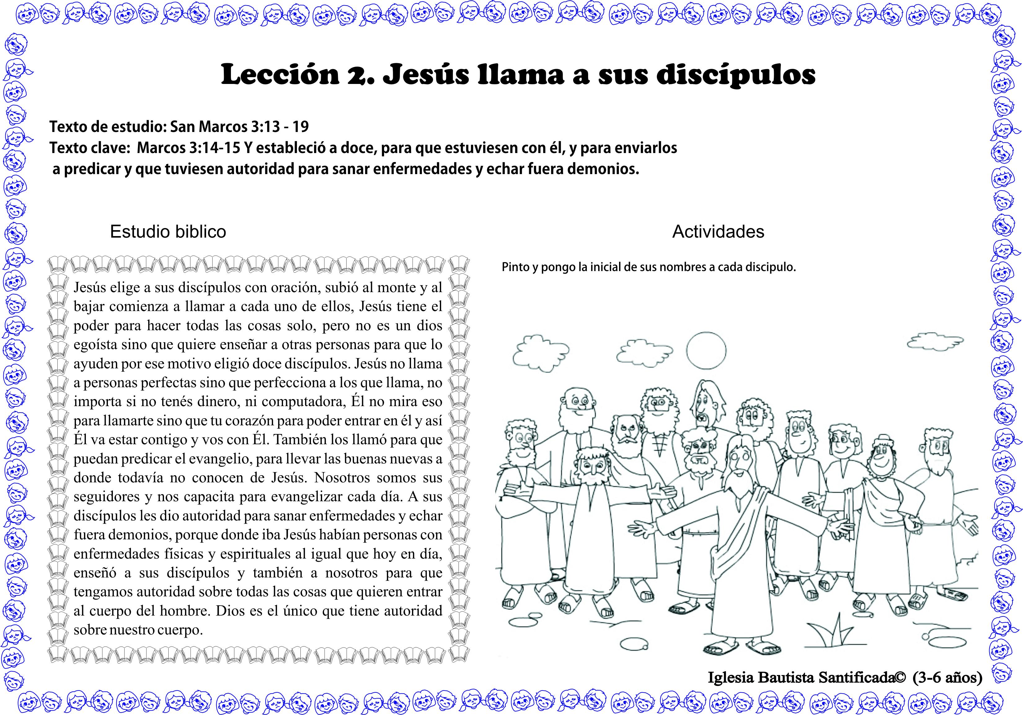 Lección 2. Jesús llama a sus discípulos | Iglesia de Niños