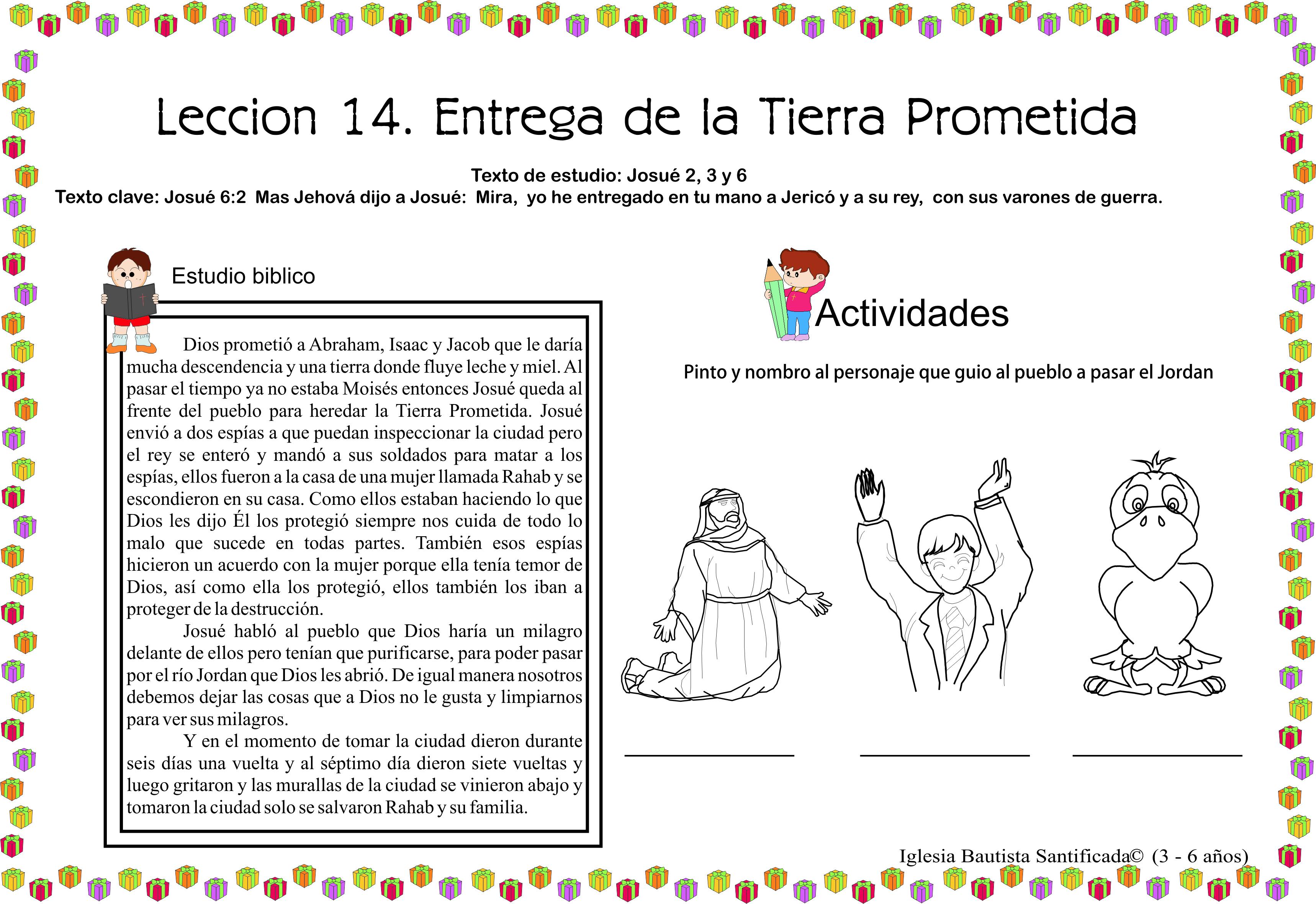 Lección 14. Entrega de la Tierra Prometida | Iglesia de Niños