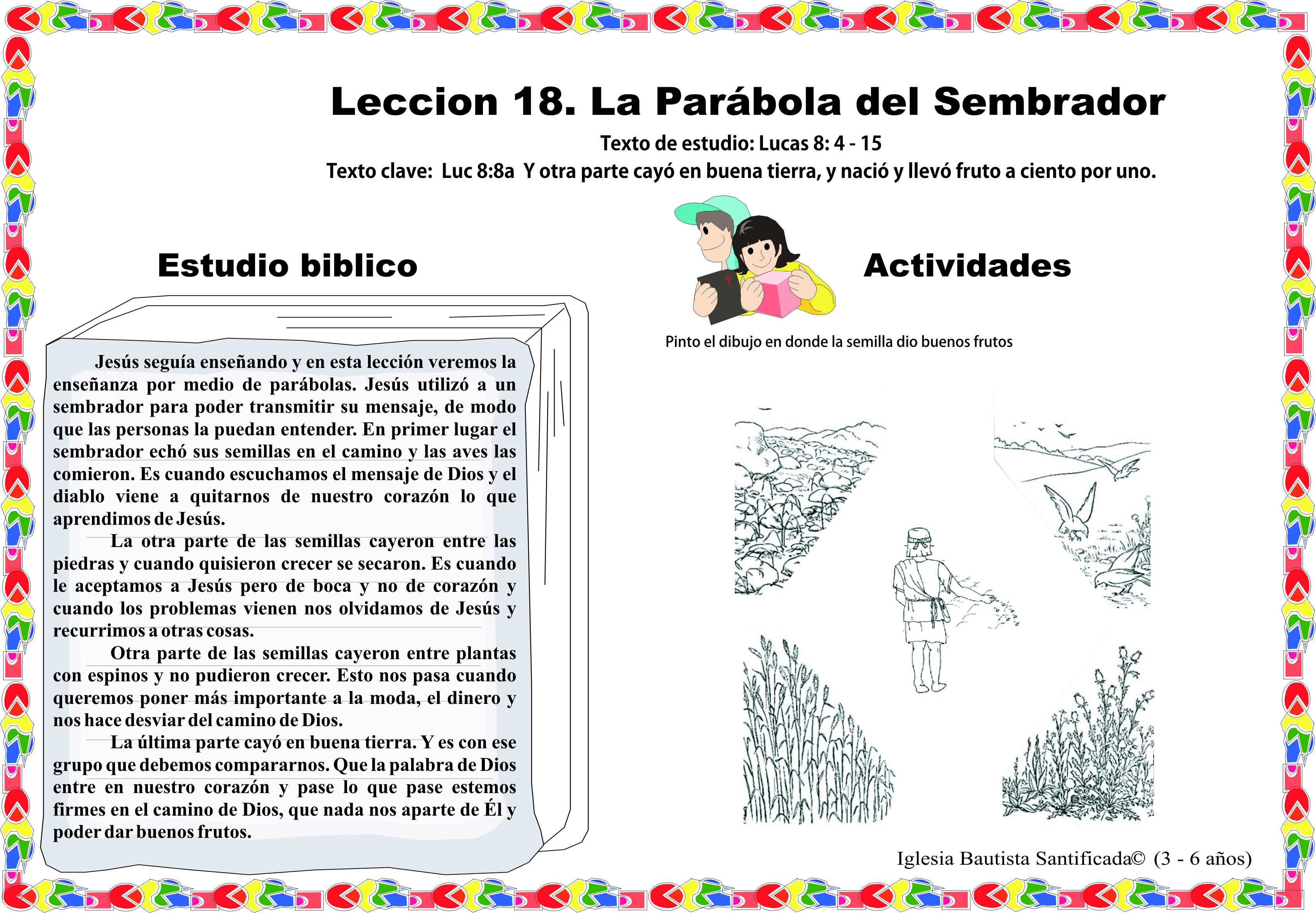 Lección 18. Parábola del Sembrador | Iglesia de Niños