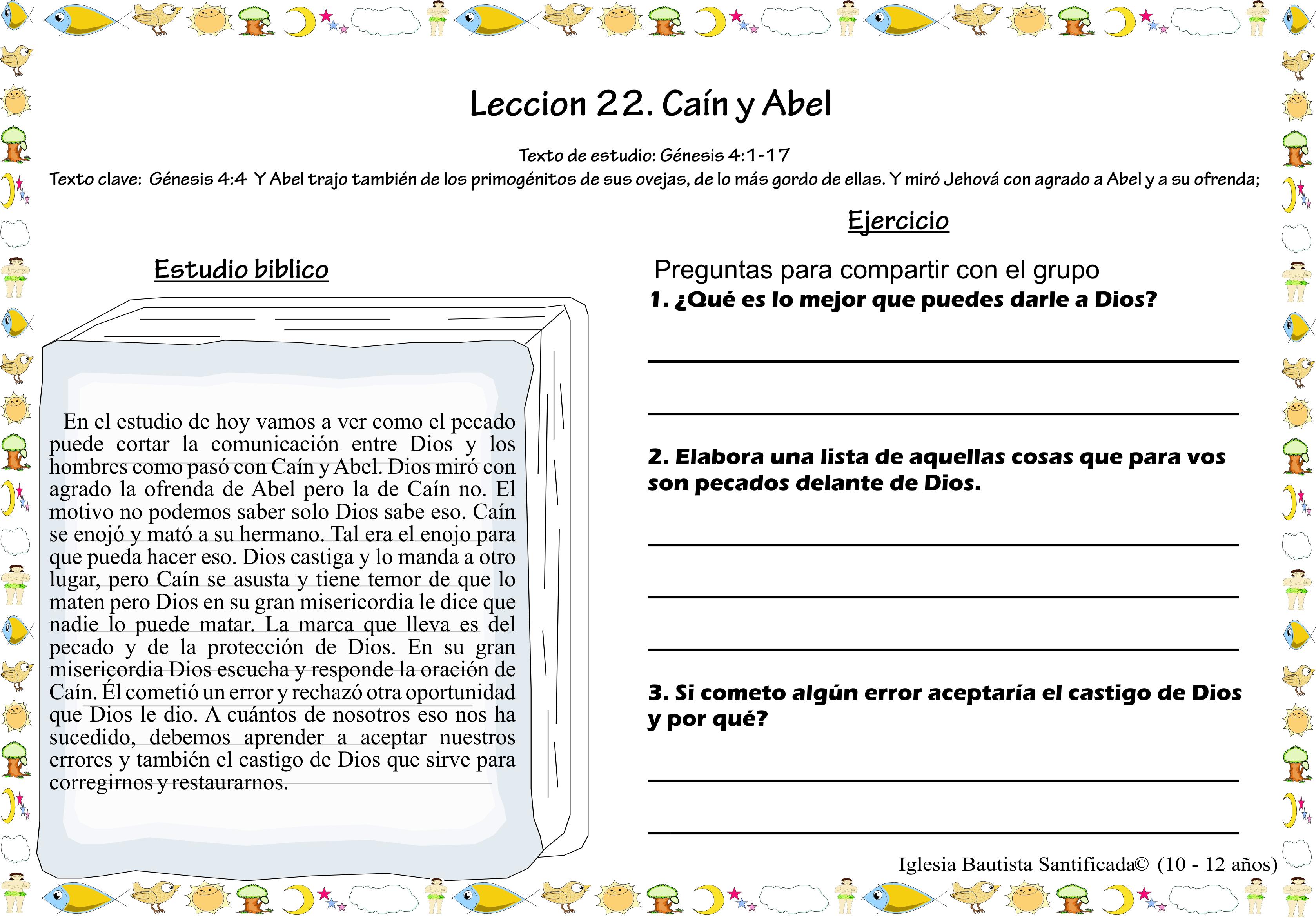 Lección 22. Caín y Abel | Iglesia de Niños