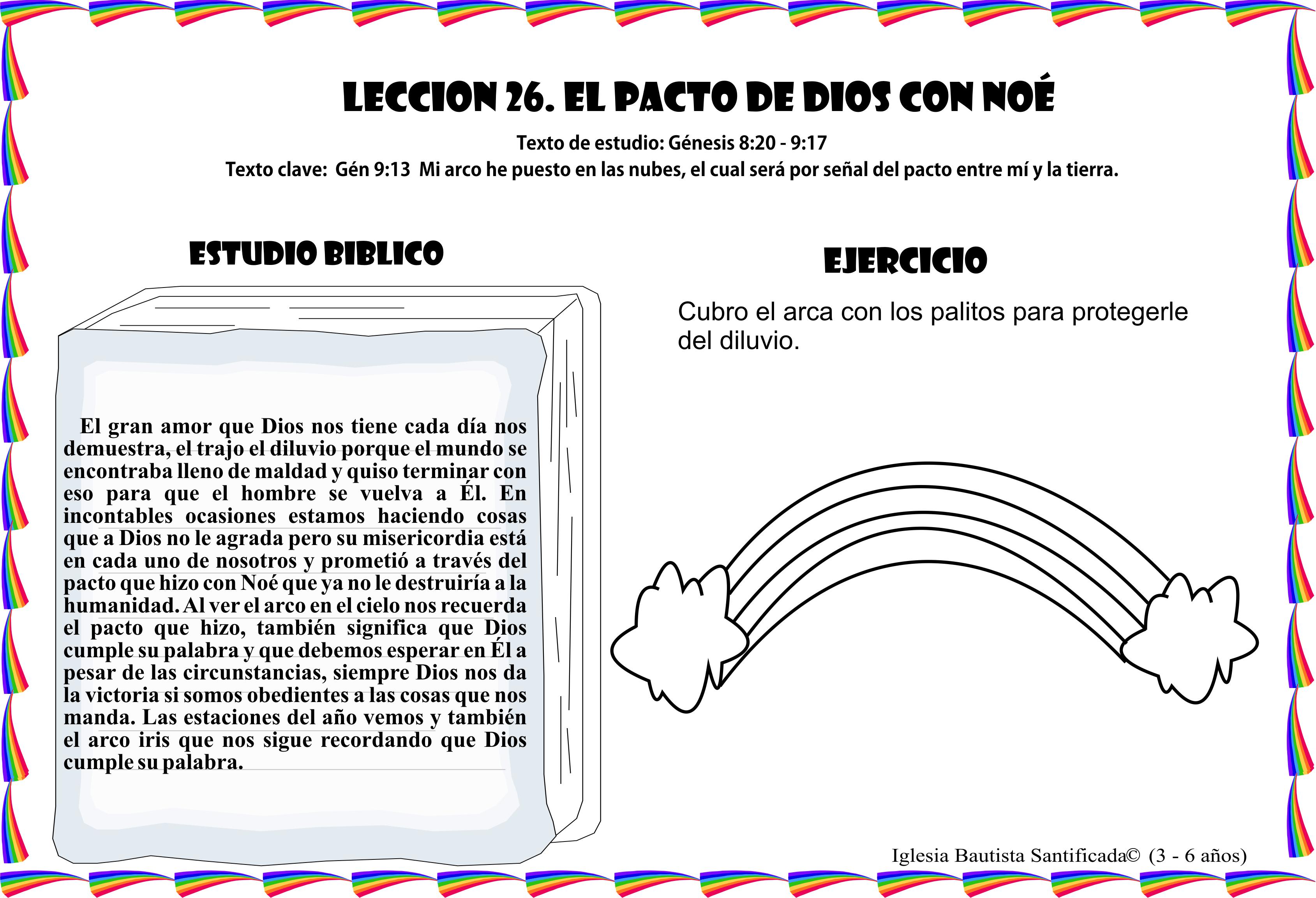 Lección 26 El Pacto De Dios Iglesia De Niños