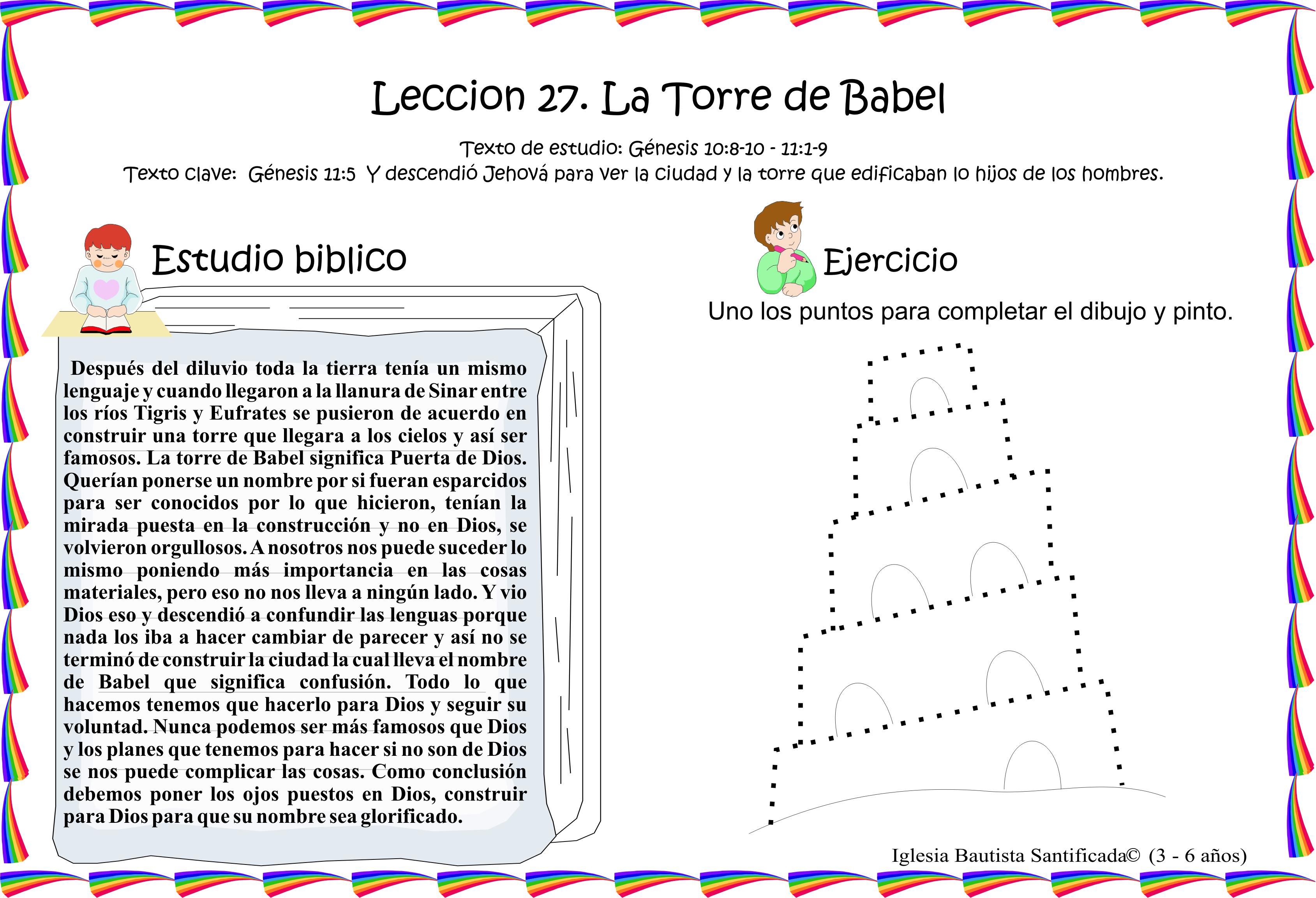 Lección 27 La Torre De Babel Iglesia De Niños