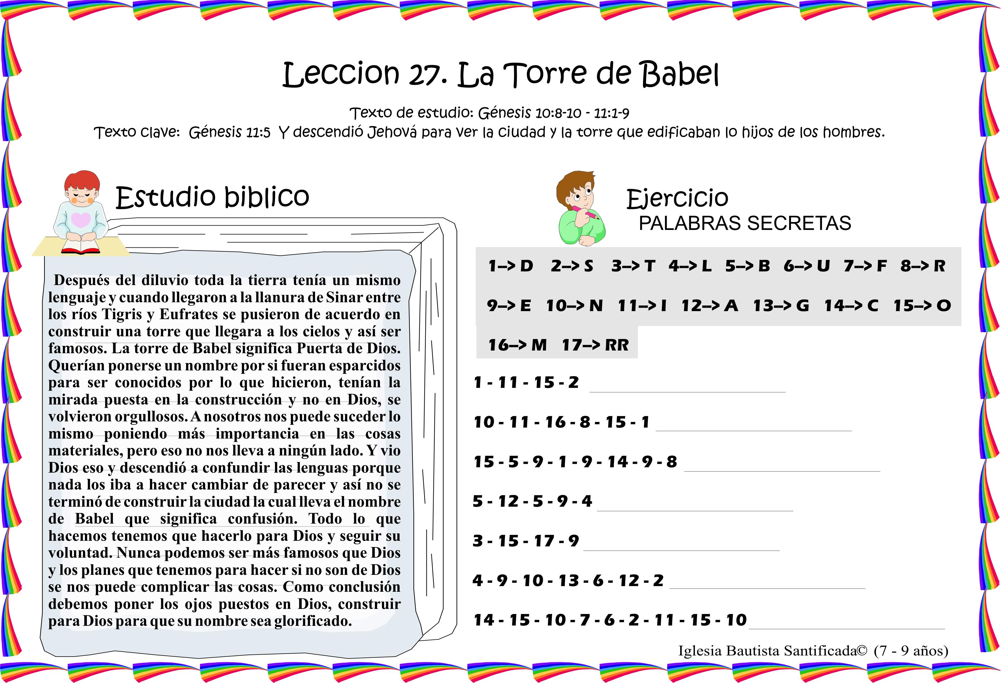Leccion 27 La Torre De Babel Iglesia De Ninos