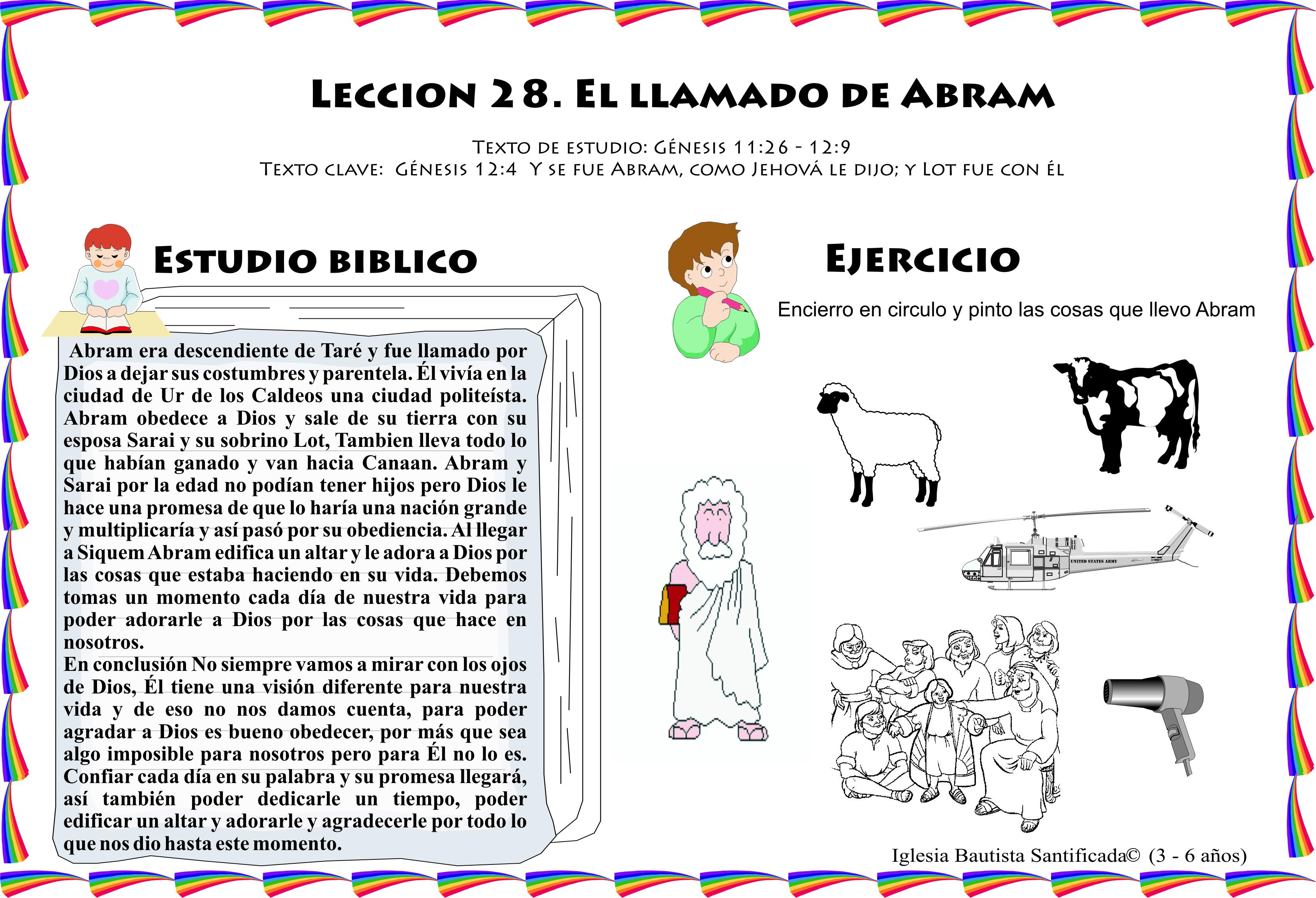 Leccion 28 El Llamado De Abram Iglesia De Ninos