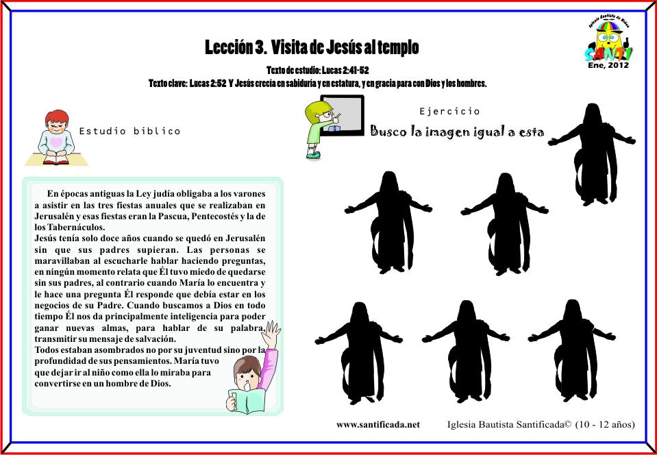 Lección 3.Visita de Jesús al templo | Iglesia de Niños