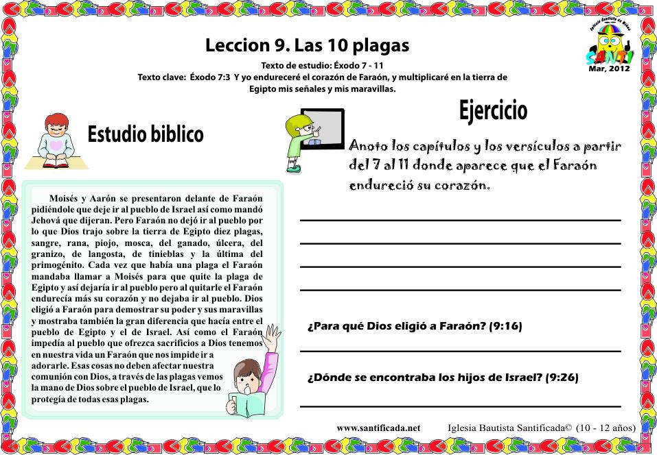 Leccion 9 Las 10 Plagas Iglesia De Ninos