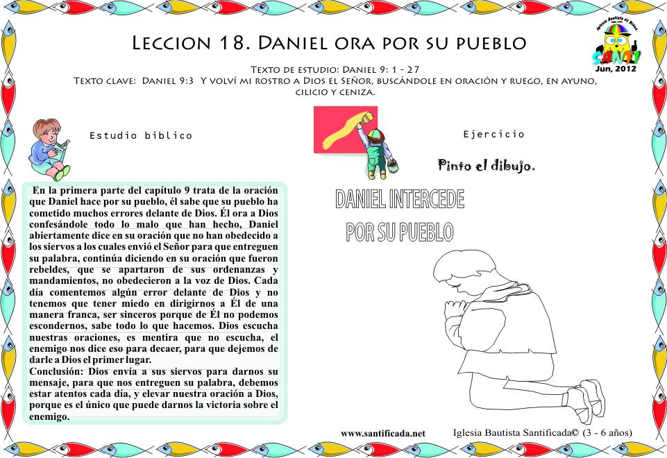 Leccion 18 Daniel Ora Por Su Pueblo Iglesia De Ninos