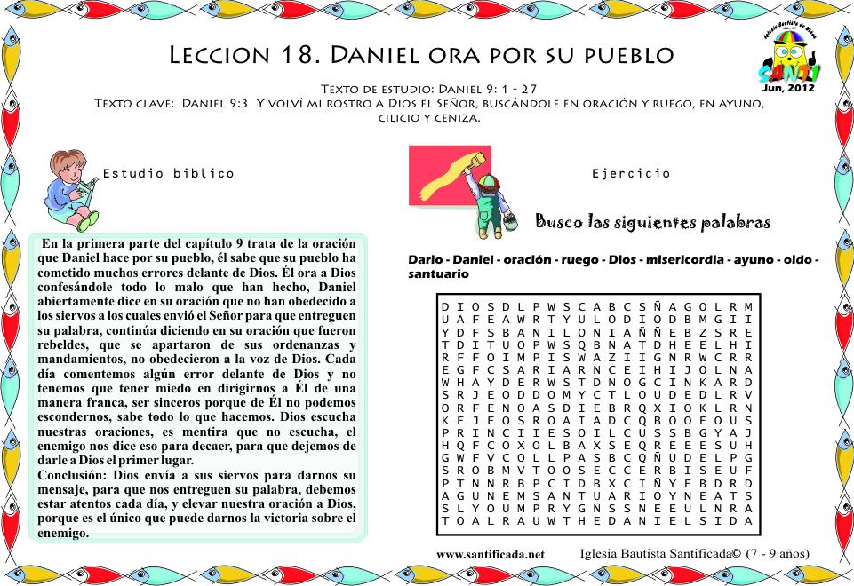 Lección 18. Daniel ora por su pueblo | Iglesia de Niños