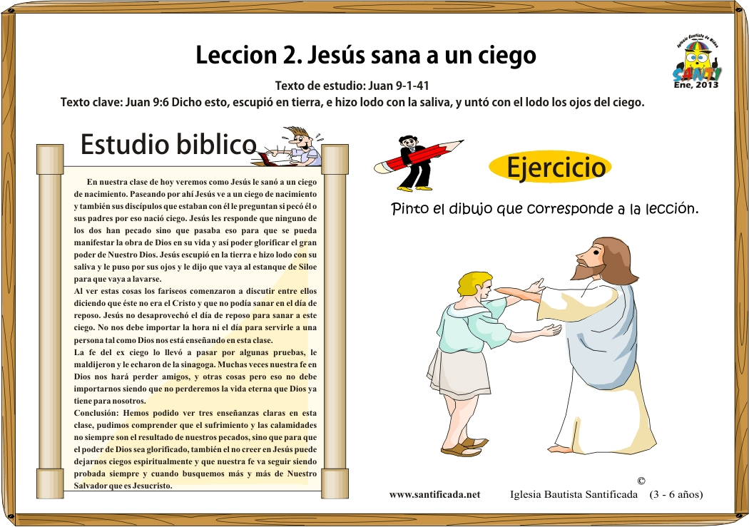 Lección 2. Jesús sana a un ciego | Iglesia de Niños