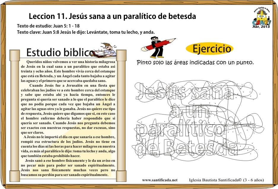 Lección 11. Jesús sana a un paralítico de Betesda | Iglesia de Niños