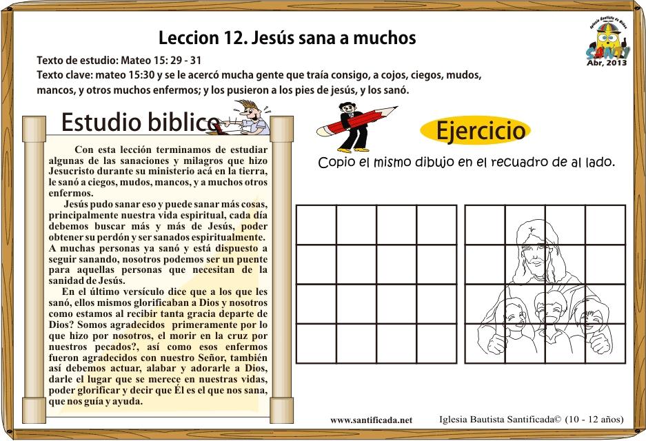 Lección 12. Jesús sana a muchos   Iglesia de Niños