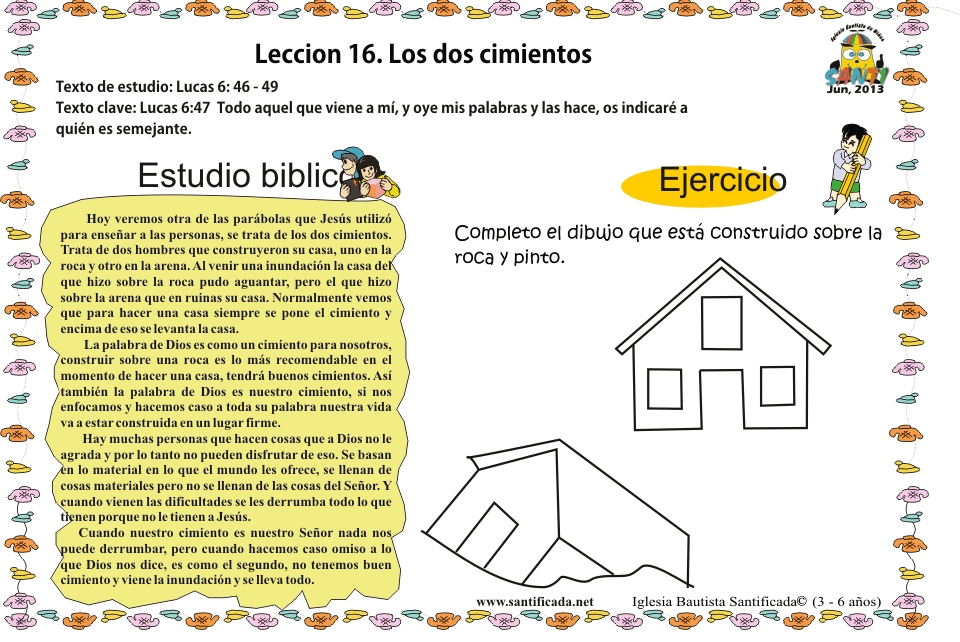 Lección 16. Los dos cimientos   Iglesia de Niños
