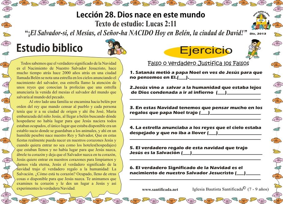 Diciembre 2013 Iglesia De Niños