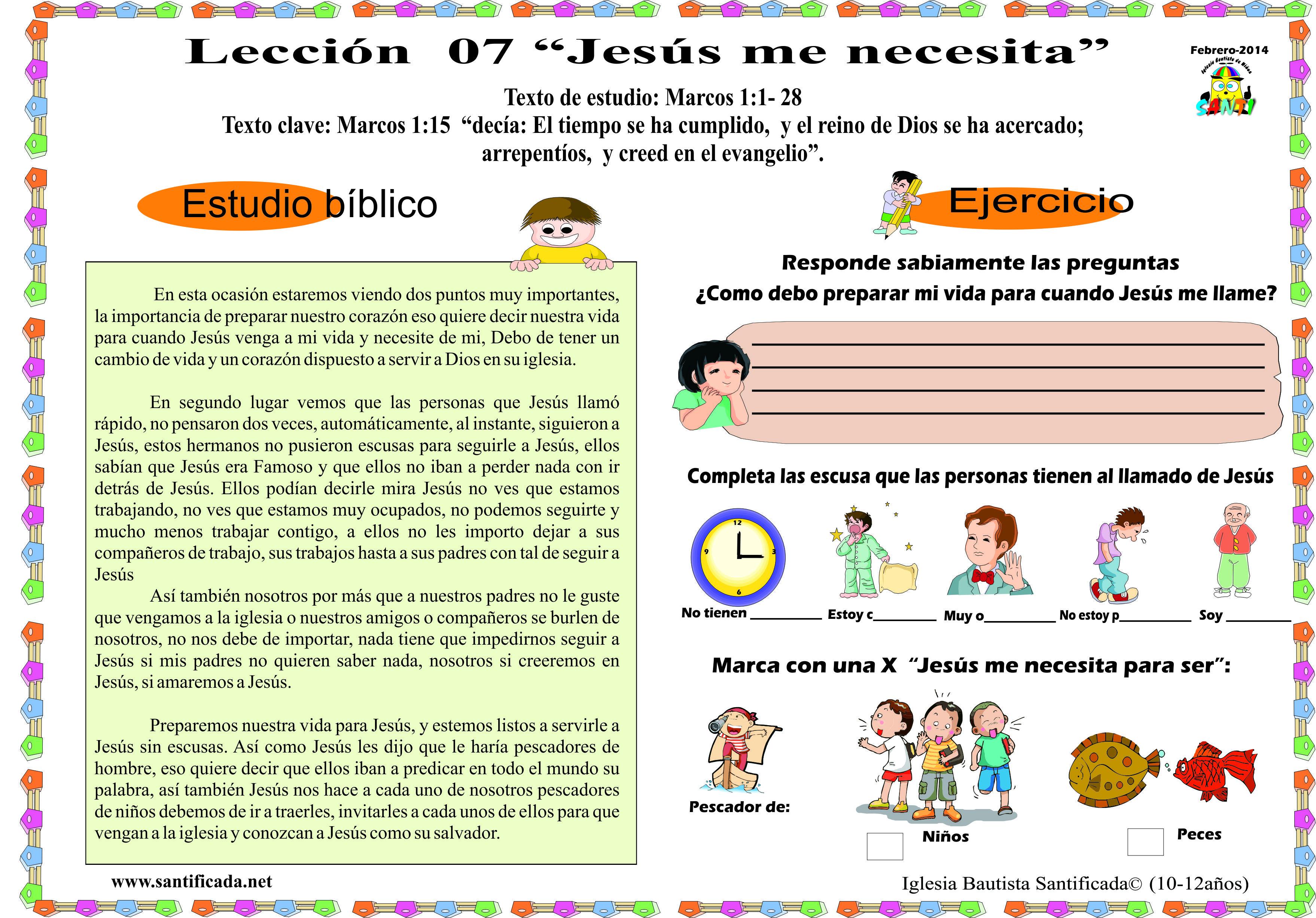Lecci n 07 jes s me necesita iglesia de ni os for Lecciones de castorama de bricolaje