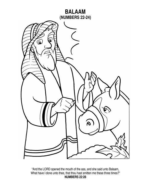 Free Coloring Pages Of Balaam Talking Donkey Balaam And The Talking Coloring Pages