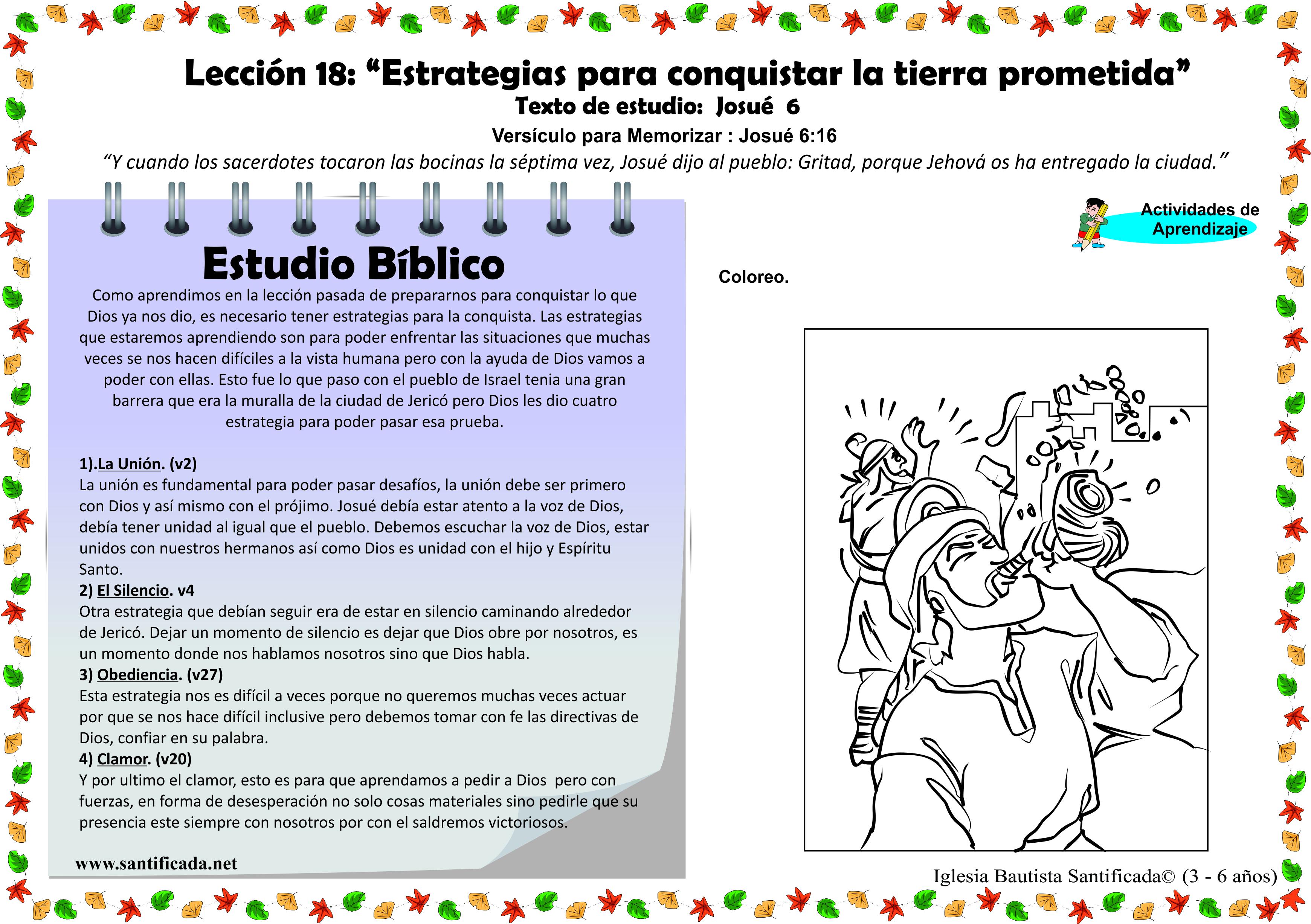 """Lección 18 – """"Estrategias para la conquista""""   Iglesia de Niños"""