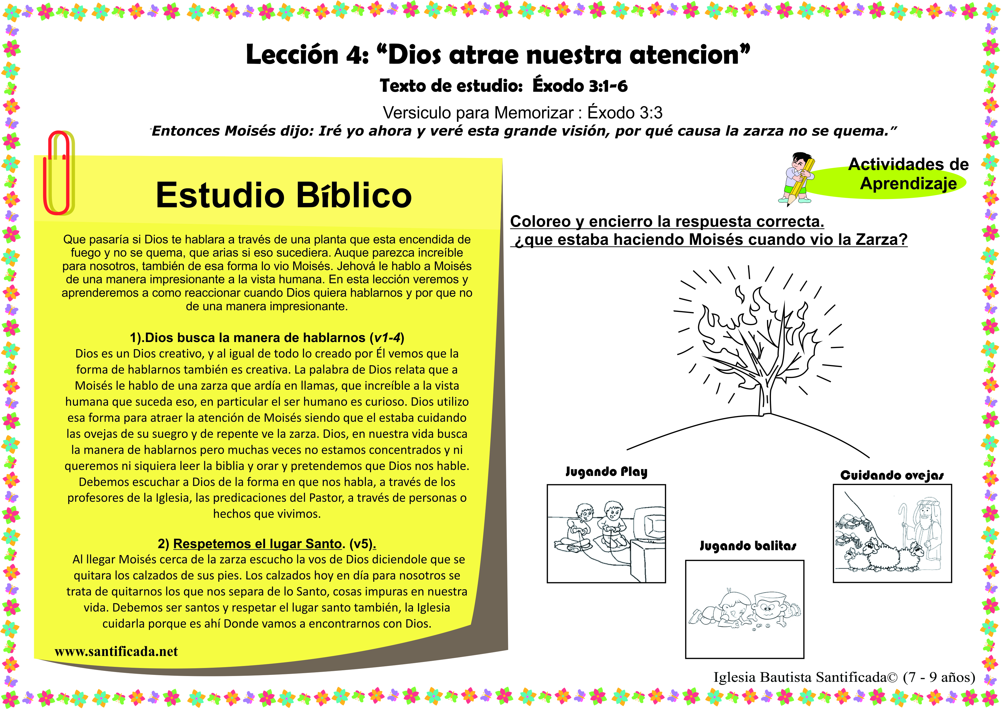Lecci n 4 dios atrae nuestra atenci n iglesia de ni os for Lecciones de castorama de bricolaje